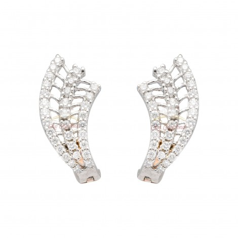 Daily Wear 18kt White Gold Diamond Earrings