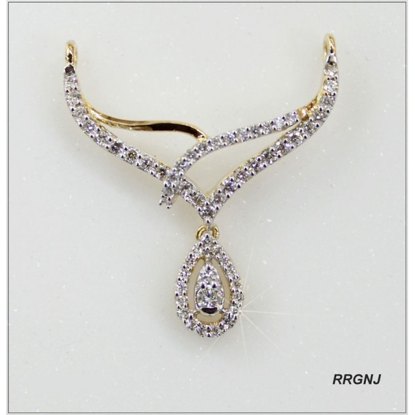 A Delicate Mangalsutra diamond pendant in 18kt gold