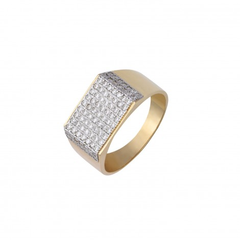 18kt Gold Diamond Ring for Him