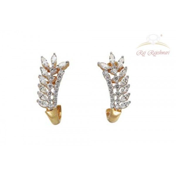 Marquise Diamond Studded Earring in 18kt Gold