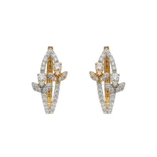 Daily Wear  Diamond Earrings in 18kt Gold