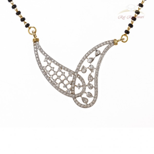 Diamond Studded Mangalsutra in 18kt Gold