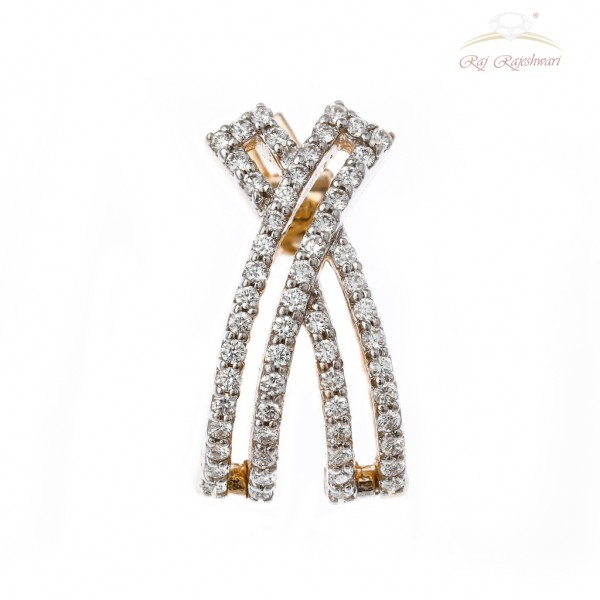 Western Designed Diamond Studded Kadi in 18kt Gold