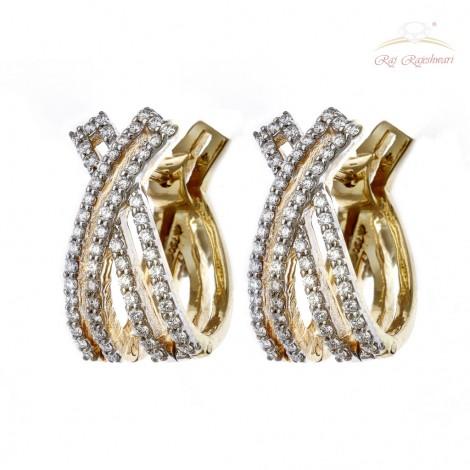 Western Designed Diamond Studded Kadi in 18kt Gold