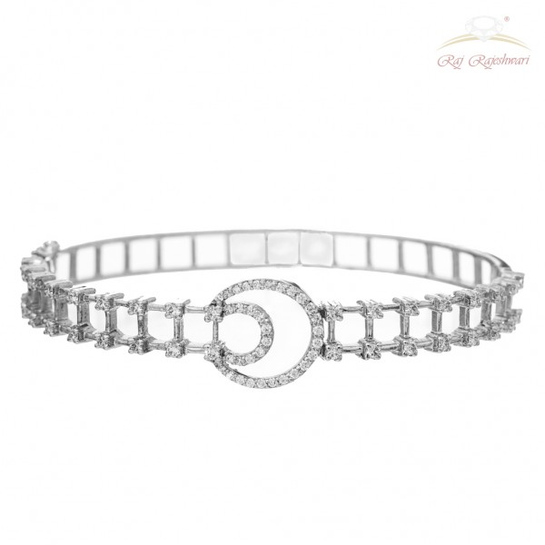 White Gold Diamond Studded Braclet in 18kt