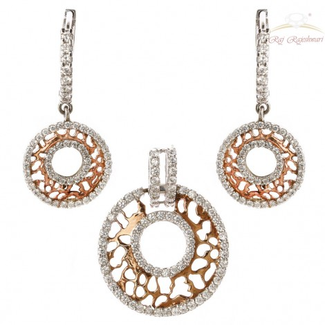 Rose Gold Diamond Studded Pendent Set in 18kt