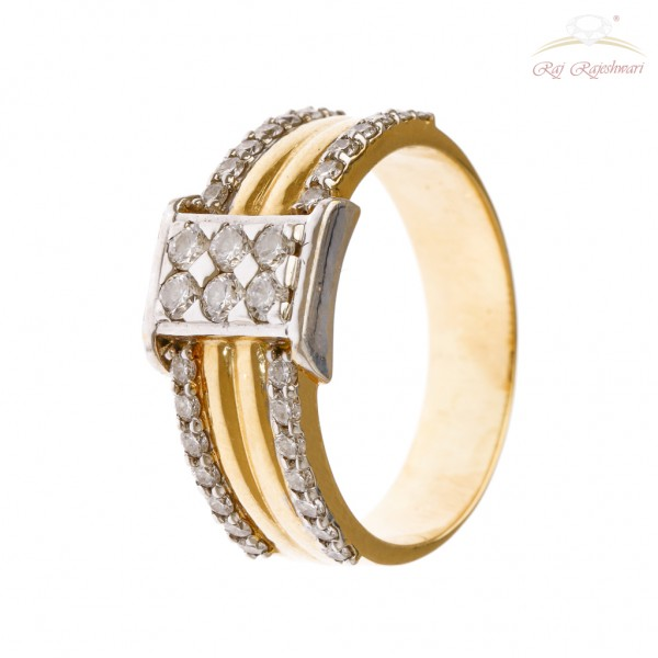 Men's Diamond Ring in 18kt Gold