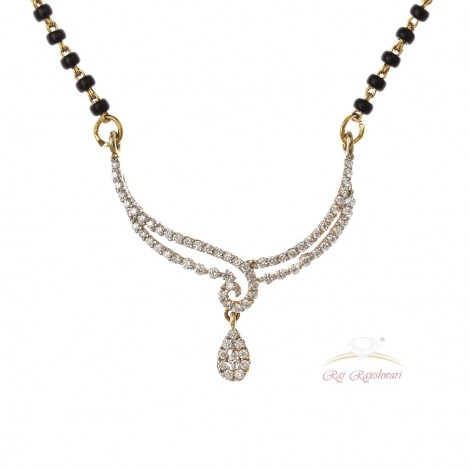 DELICATE DIAMOND MANGALSUTRA IN 18CT GOLD