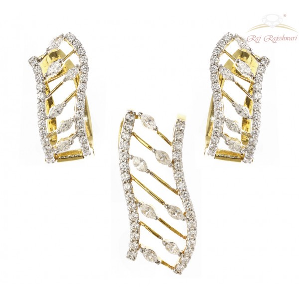 Marquise Diamond Studded Pendant Set in 18kt Gold