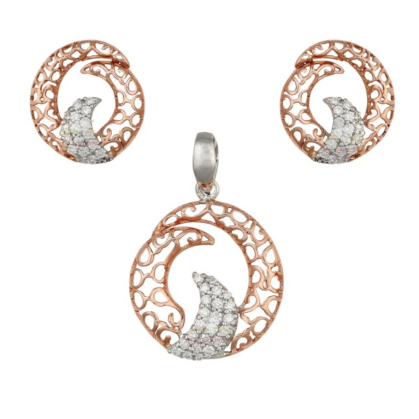 A unique Diamond Pendant Set in 18kt Rose Gold