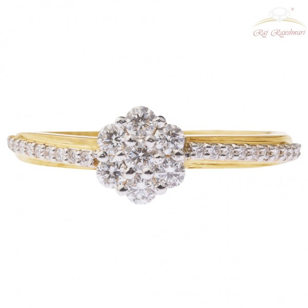 Delicate Pressure Setting 18kt Diamond Studded Ring