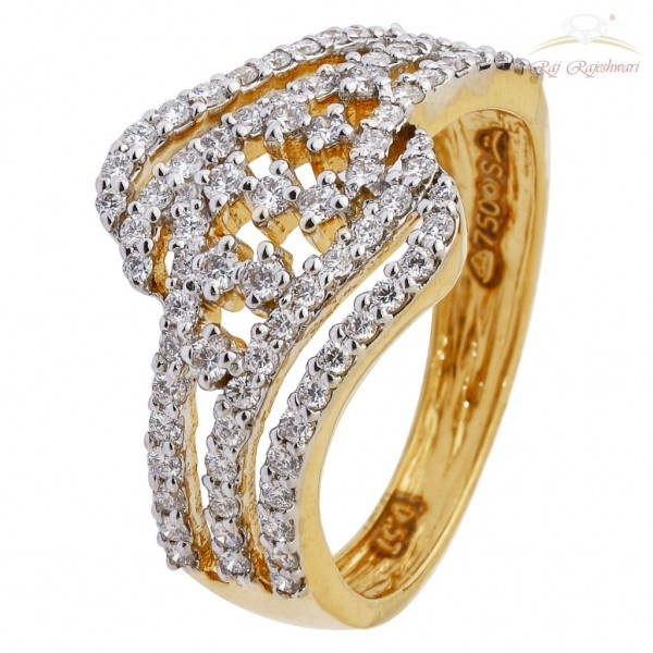 Casual Wear 18Kt Diamond Studded Ring